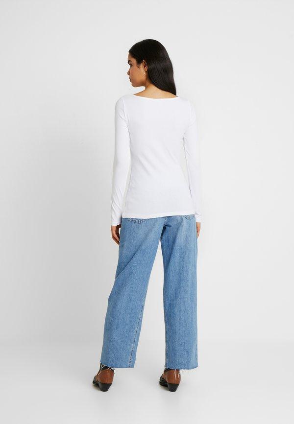 Anna Field Tall 2ER PACK - Bluzka z długim rękawem - black/white Kolor jednolity Odzież Damska RVYW WY 2