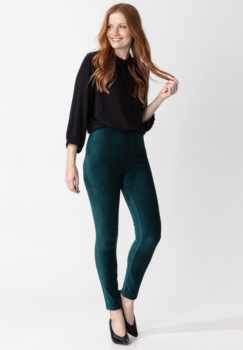 Indiska - Leggings - Trousers - petrol