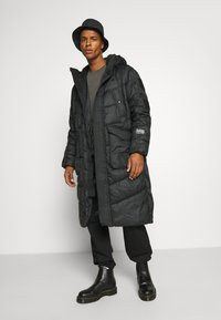 G-Star - UTILITY QUILTED EXTRA LONG PARKA - Winter coat - namic lite black - 1