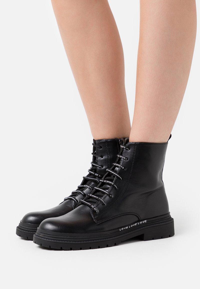 KHARISMA - Lace-up ankle boots - soft nero