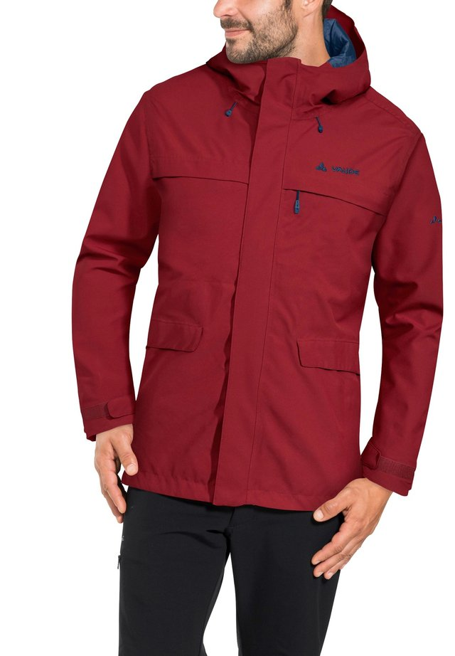 Waterproof jacket - carmine
