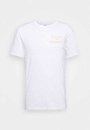 SLUB HAWAII MAP GRAPHIC TEE - Print T-shirt - white