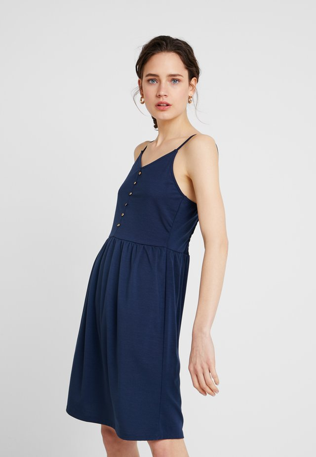 STRAP DRESS - Jersey dress - navy