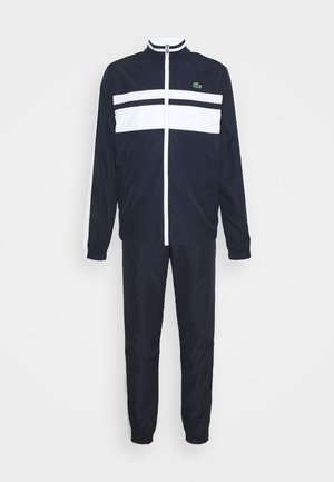 TRACK SUIT - Chándal - navy blue/white