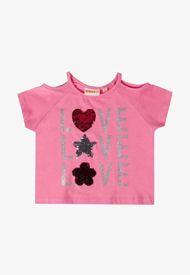 T-shirt print - fucsia