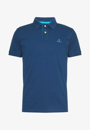 CONTRAST COLLAR RUGGER - Polo shirt - yankee blue