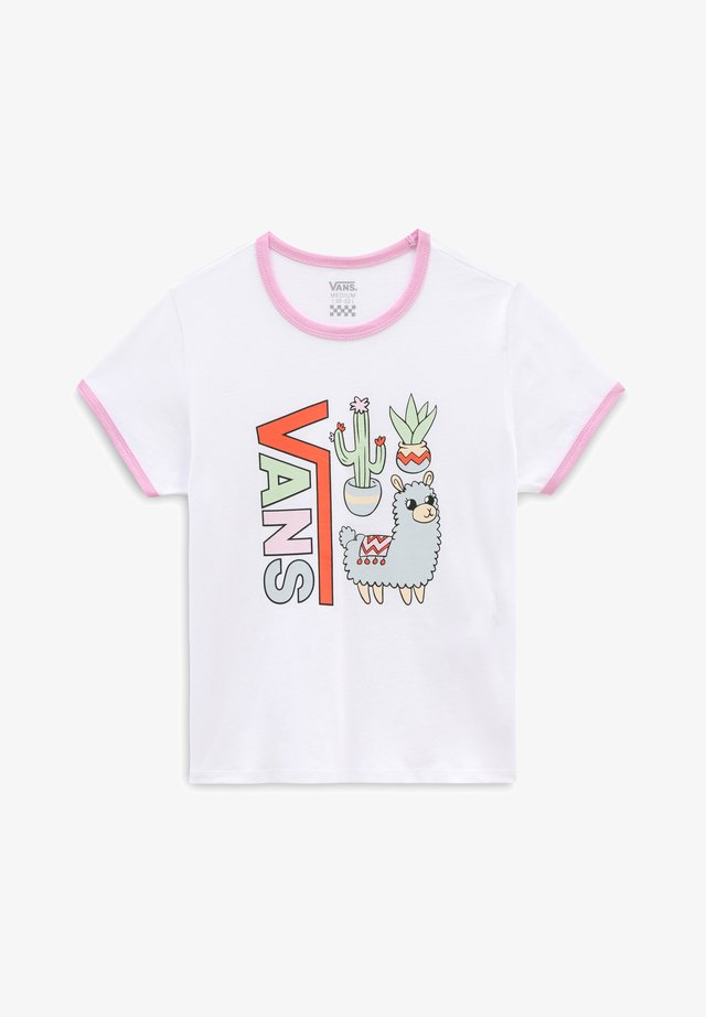 GR LLAMA LOVER - Print T-shirt - white orchid