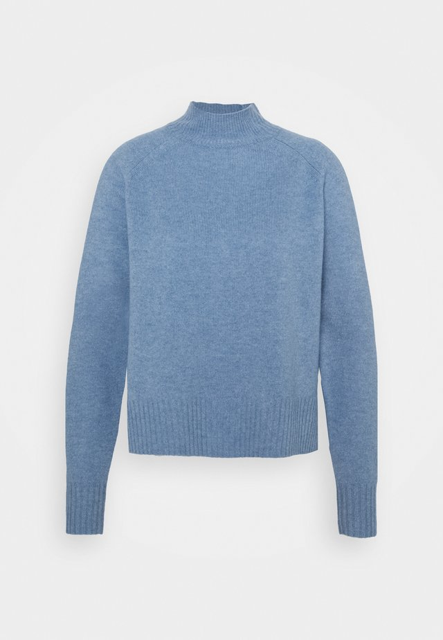 FUNNEL NECK - Jumper - pale blue