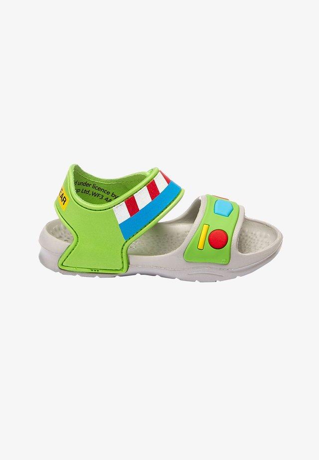 BUZZ LIGHTYEAR POOL SLIDERS - Dětské boty - gray