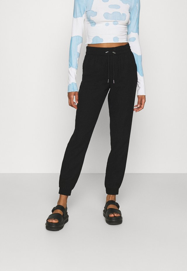 ONLKELDA EMERY PULL UP PANTS - Kangashousut - black