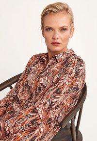 comma - LONG - Button-down blouse - black paisley - 4