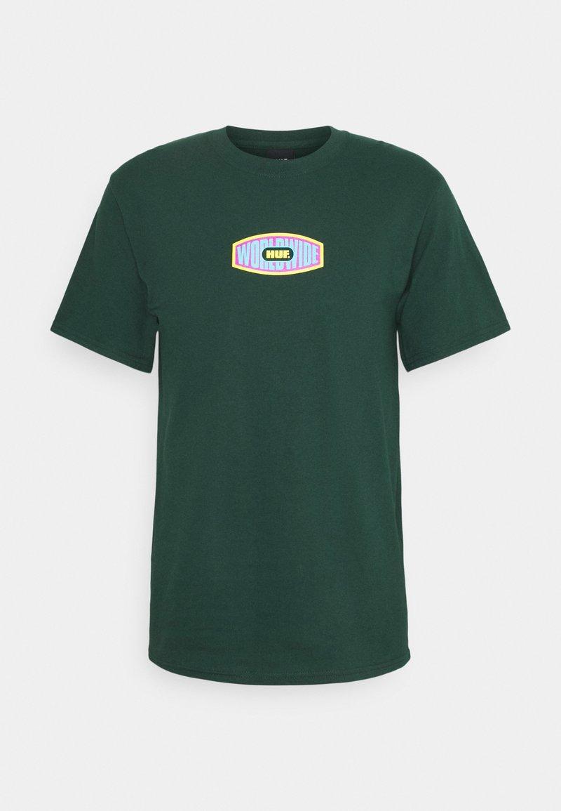 HUF - WORKMANS TEE - Print T-shirt - dark green