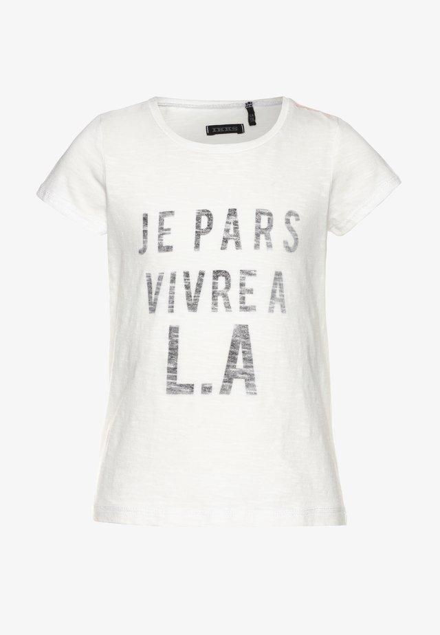 TEE - T-shirt print - blanc cassé