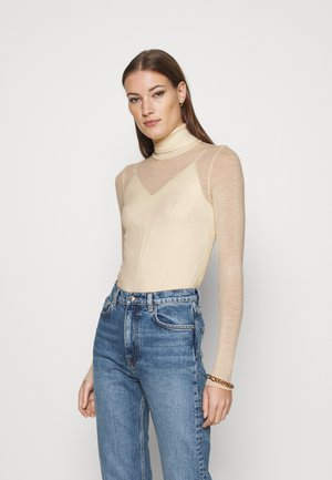 KNIT TURTLENECK - Jumper - white dusty