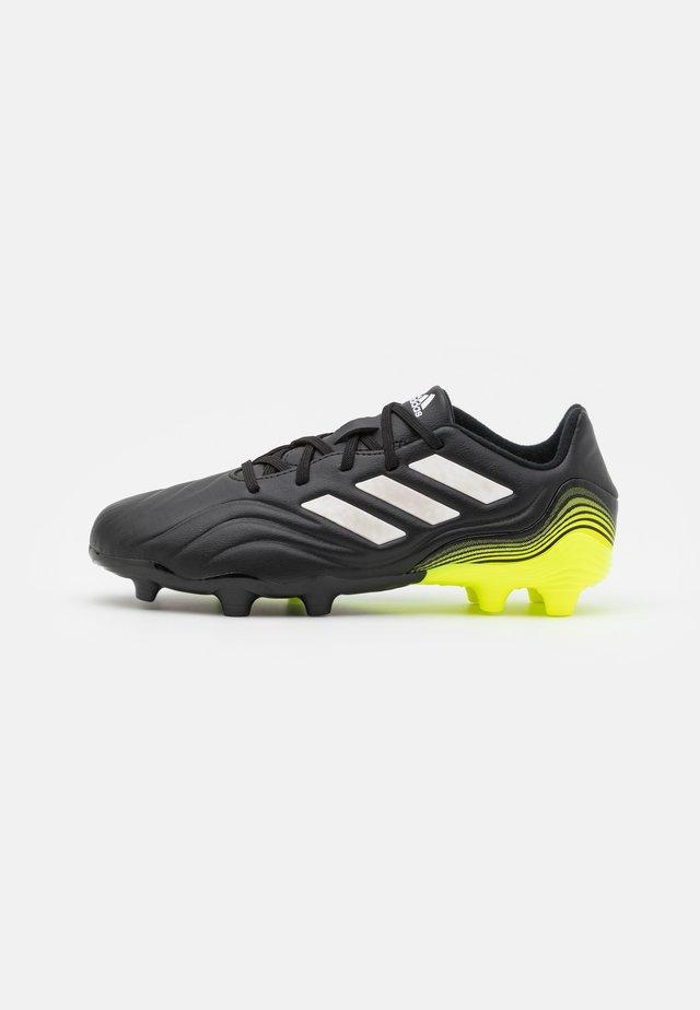 COPA SENSE.3 FIRM GROUND - Voetbalschoenen met kunststof noppen - core black/footwear white/solar yellow