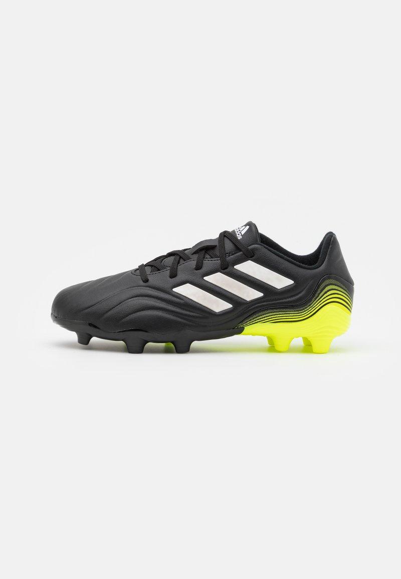 adidas Performance - COPA SENSE.3 FG UNISEX - Moulded stud football boots - core black/footwear white/solar yellow