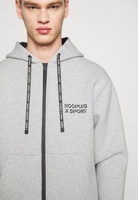 The Kooples - veste en sweat zippée - grey - 5