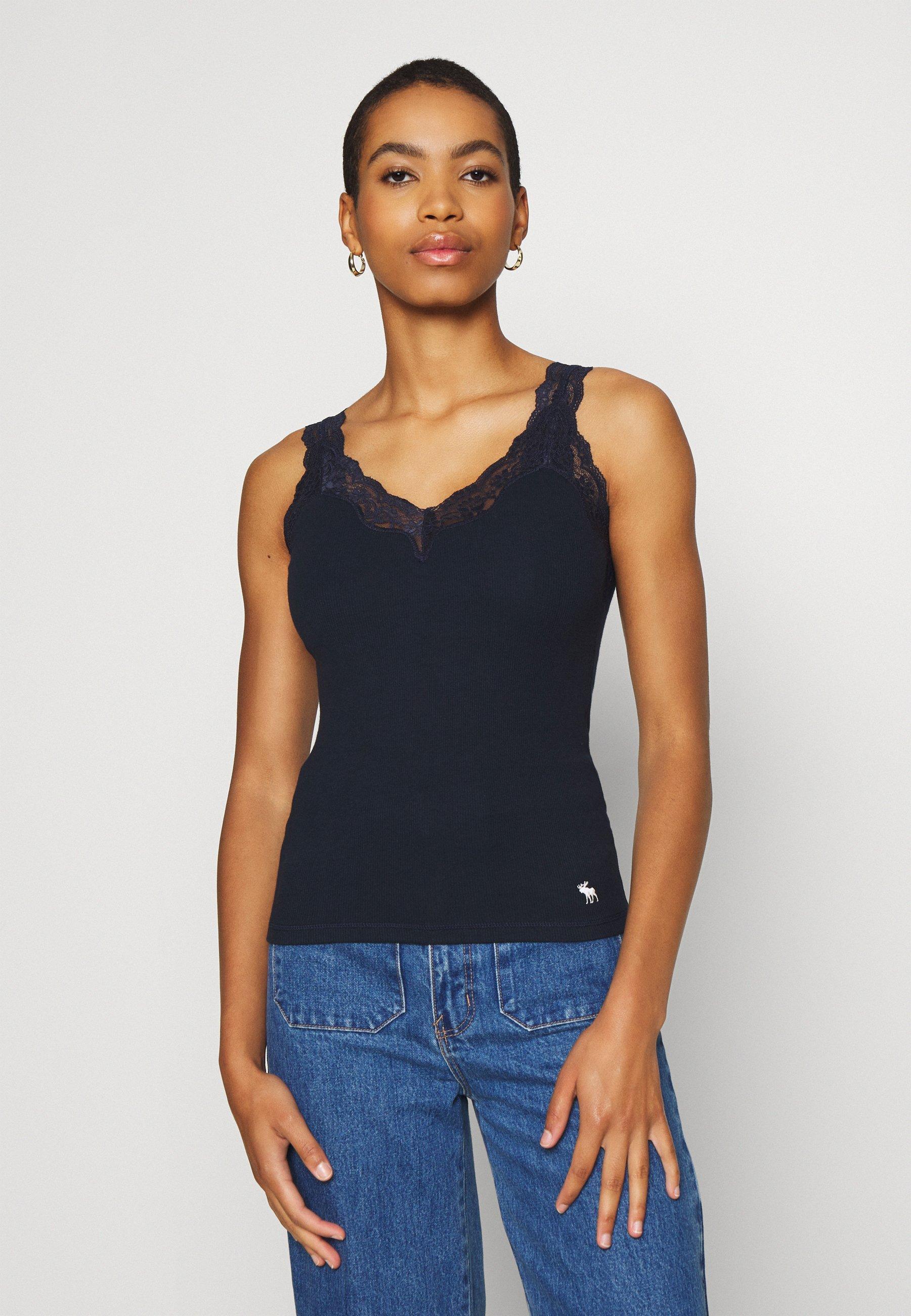 Abercrombie & Fitch BARE CAMI 3 PACK - Top - black/white/navy - Abbigliamento da donna Sbrigati