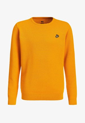 JONGENS FIJNGEBREIDE MET - Jumper - yellow