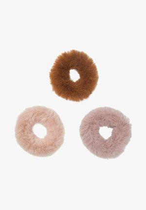 3ER-PACK HAARGUMMIS  - Hair styling accessory - dark brown