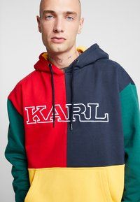 Karl Kani - COLLEGE BLOCK - Sweat à capuche - yellow/green/red/navy - 4