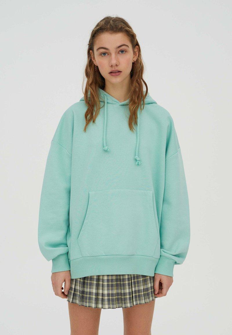 PULL&BEAR - Sweat à capuche - light green