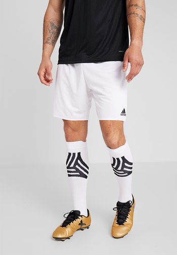 PARMA PRIMEGREEN FOOTBALL 1/4 SHORTS - Sports shorts - white/black