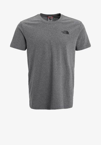 MEN´S TEE - Print T-shirt - mottled grey