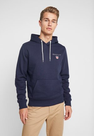 MEDIUM SHIELD HOODIE - Luvtröja - evening blue