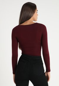 New Look - BODY - Top s dlouhým rukávem - dark burgundy - 2