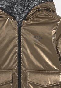 IKKS - REVERSIBLE WINTER - Winter jacket - navy foncé/or - 3