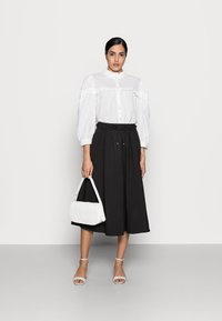 Kaffe - JOANNA BLOUSE - Button-down blouse - chalk - 1