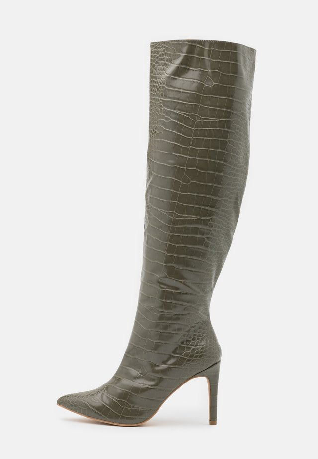 TUBULAR BOOTS - Over-the-knee boots - olive
