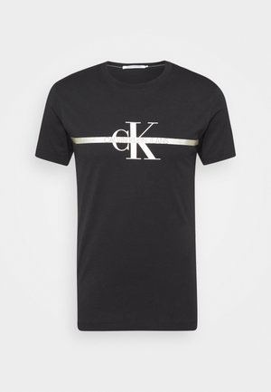 SEASONAL MONOGRAM TEE UNISEX - Printtipaita - black