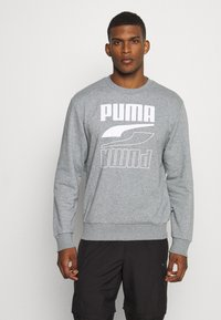 Puma - REBEL CREW  - Sweatshirt - medium gray heather - 0