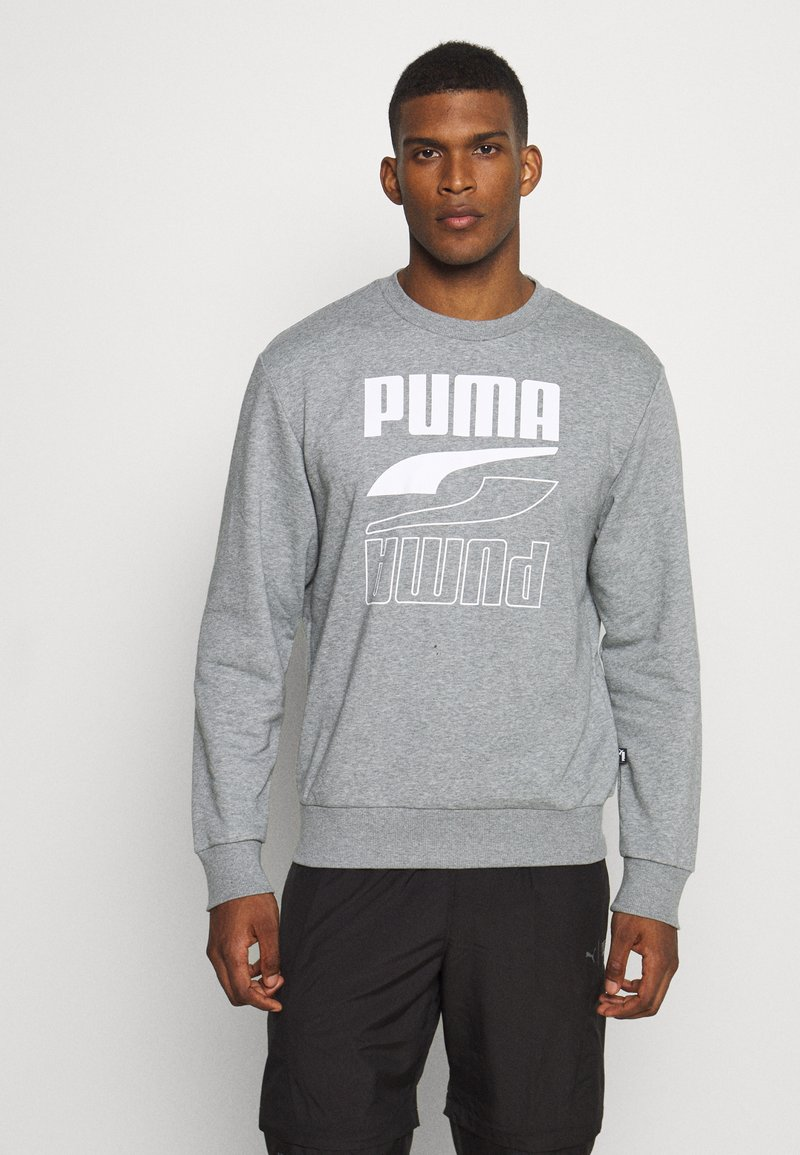 Puma - REBEL CREW  - Sweatshirt - medium gray heather