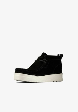 Sneakers laag - black suede