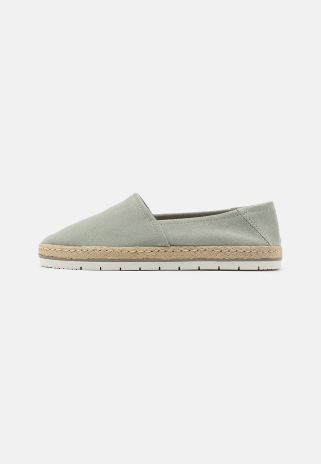 LEATHER - Espadrille - mint