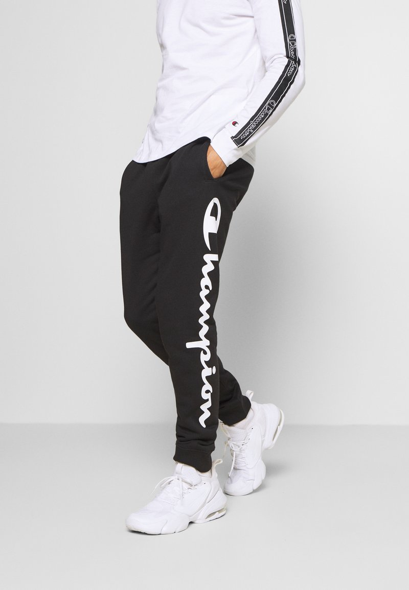 Champion - LEGACY CUFF PANTS - Pantalon de survêtement - black/grey