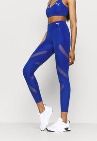 Puma - PAMELA REIF X PUMA MID WAIST LEGGINGS - Leggings - mazerine blue - 0