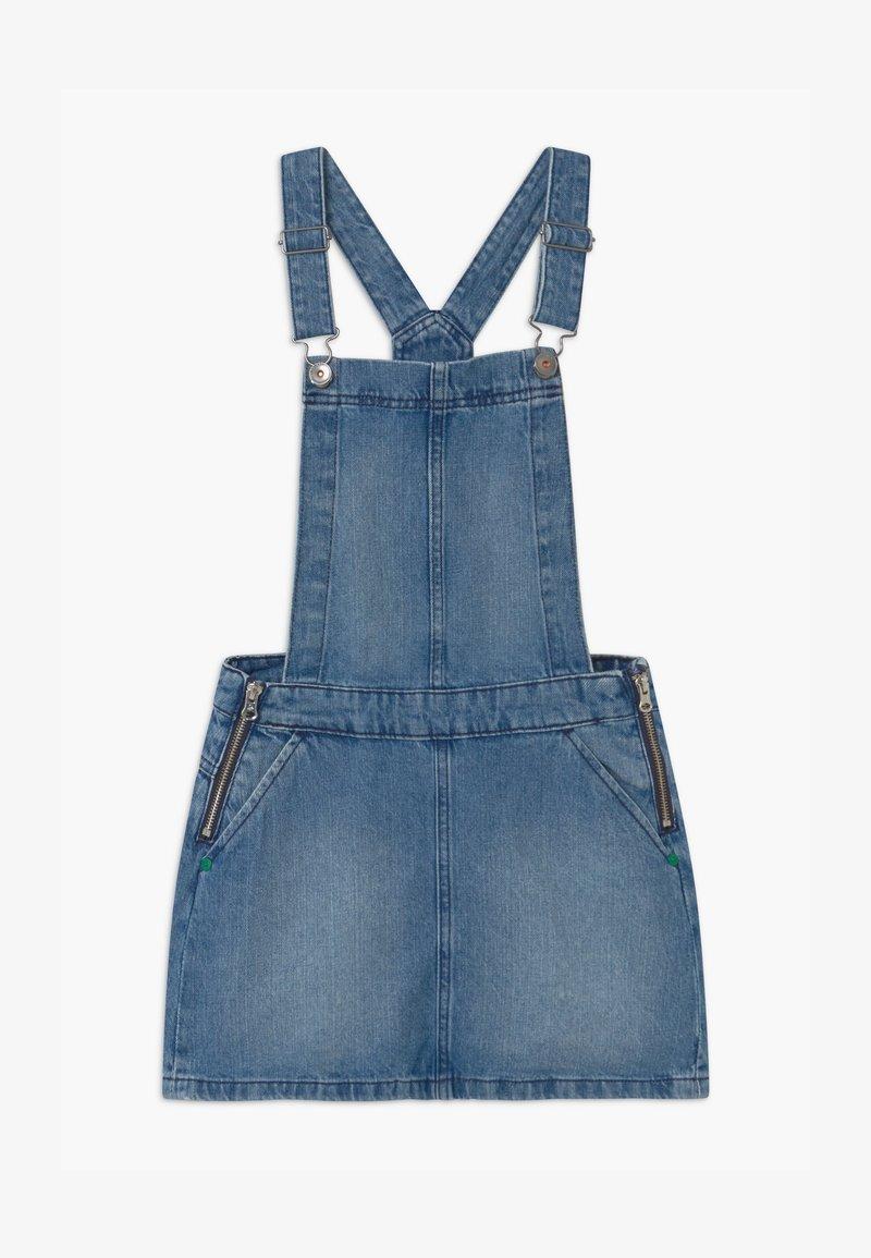 Benetton - EUROPE GIRL - Denimové šaty - blue denim
