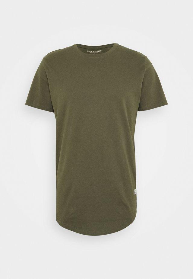 JJENOATEE CREW NECK  - T-shirts basic - forest night