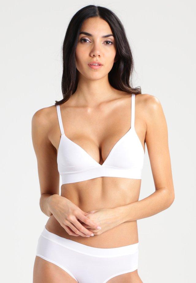 Triangle bra - poplin whithe
