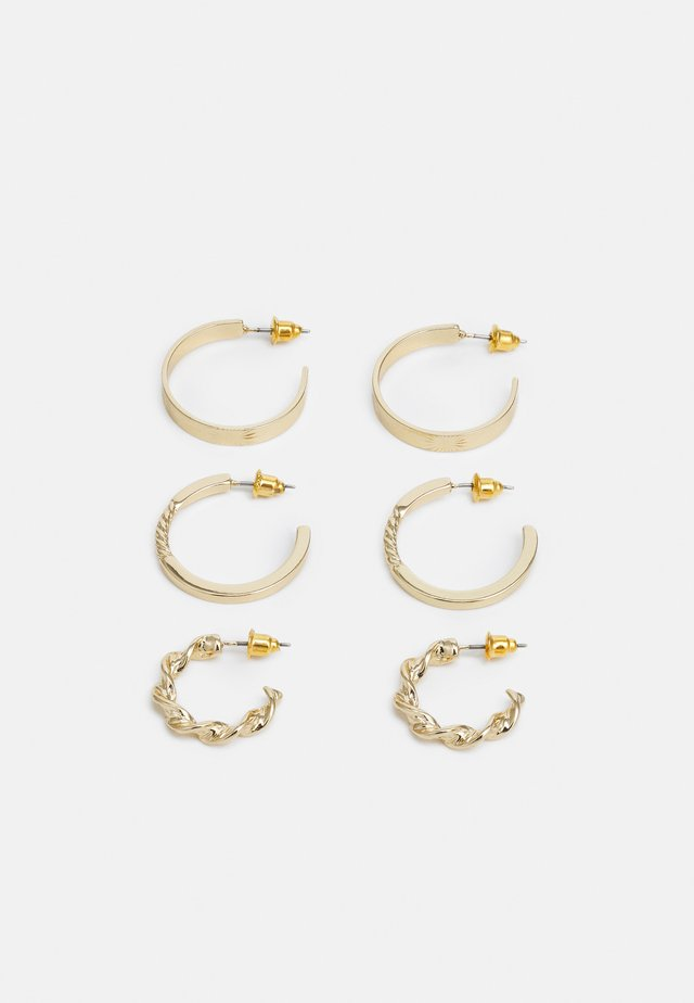 TWIST HOOP 3 PACK - Kolczyki - gold-coloured