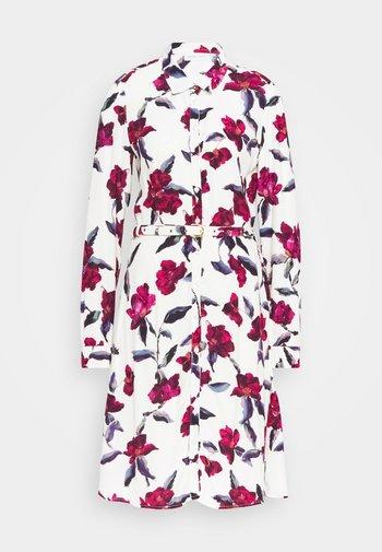 HAYLEY DRESS - Shirt dress - cream white/parrot