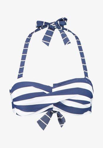NORTH BEACH PADDED BANDEAU - Bikini top - dark blue