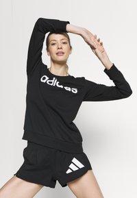 adidas Performance - Sweatshirts - black/white - 3