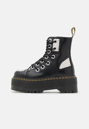 JADON MAX REBEL - Platform ankle boots - black buttero