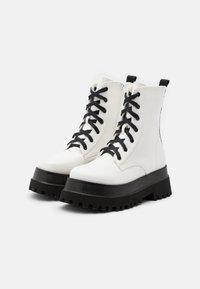 RAID - HARLOW - Platform ankle boots - white - 2