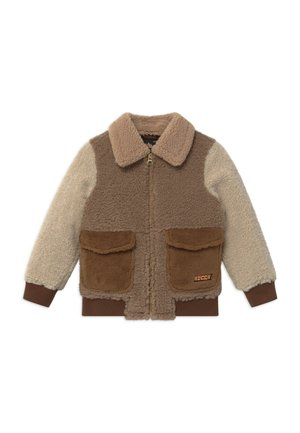 Bomber bunda - light brown/off-white